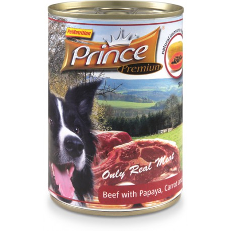 Prince Premium Wołowin/Papaja/Marchewka,szpin 400g