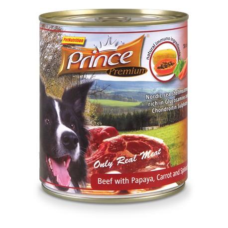 Prince Premium Wołowina Papaja Marchew 800g