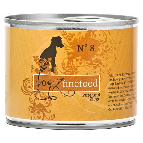 Dogz finefood No.8 indyk & owca 200g