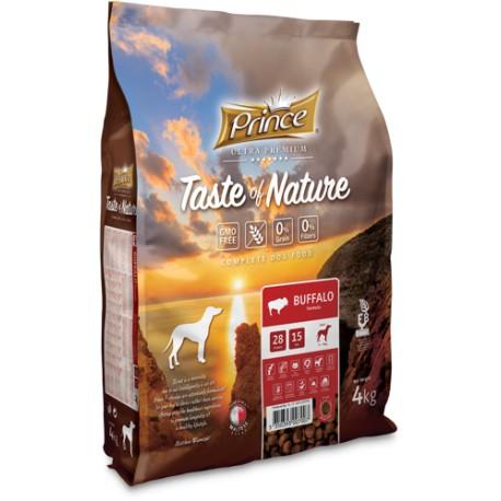 Prince Taste of Nature  karma sucha bez zbóż dla psów dorosłych i szczeniąt ras średnich i dużych z mięsa bizona 4 kg