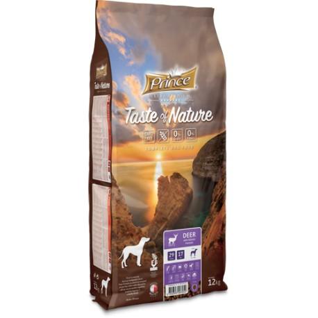 Prince Taste of Nature - karma sucha bez zbóż dla psów dorosłych wszystkich ras , jeleń  z łososiem   12 kg