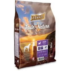 Prince Geschmack der Natur - Trockenfutter ohne Getreide für erwachsene Hunde aller Rassen aus Hirschfleisch und Lachs 4 kg