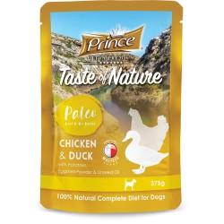 Prince Paleo Saszetka dla szczeniąt Kurczak Kaczka 375g  DO 99% MIĘSA!!