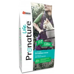 Pronature Life Cat Fit Green 2,27 kg. Fleischreiche Hühnerfutter, 72% tierisches Eiweiß
