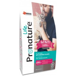 Pronature Life Cat Infinity 2,27 kg. Hochmuskel-Hühner- und Lachsfutter, 72% tierisches Eiweiß