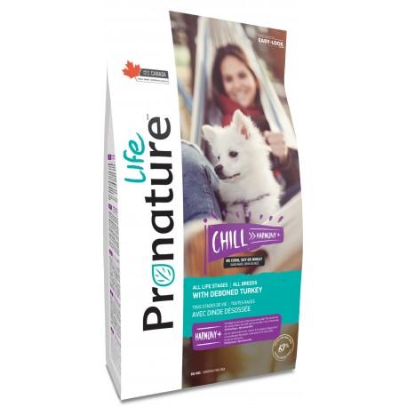 Pronature Life Dog Chill 11,3 kg. Wysokomięsna karma z kurczakiem i indykiem, 67% białka zwierzęcego