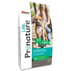 Pronature Life Dog Fit Green 11,3kg. Wysokomięsna karma z kurczakiem, 63% białka zwierzęcego