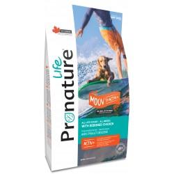 Pronature Life Dog Moove Active+ 11,3 kg. Wysokomięsna karma z kurczakiem i rybą, 72% białka zwierzęcego