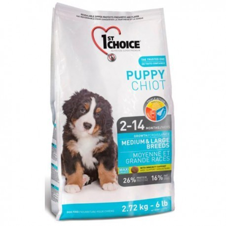 1st Choice Puppy Medium & Large Breeds 2,72kg