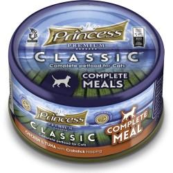 Princess Classic Complete Meal  Kurczak, Tuńczyk, Krab z tauryną 170g