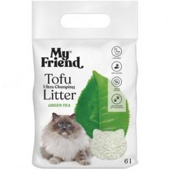 Ekologiczny żwirek dla kota My Friend, zbrylający, zapach zielona herbata 6l
