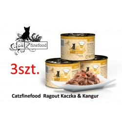 PAKIET 3 szt Catz Finefood Ragout No 607- kaczka z kangurem 180g