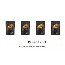 Pakiet 12 szt   Catz finefood Purrrr No. 107 kangur 85g
