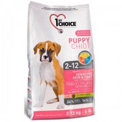 Karma dla szczeniąt  1st Choice Puppy Sensitive Skin & Coat BEZ ALERGIZUJĄCYCH ZBÓŻ 14 kg