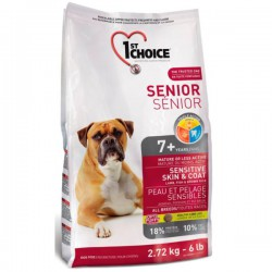 1st choice Dog Senior Sensitive Skin & Coat 2.72kg